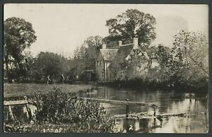 Colnside-Fairford-Gloucestershire-c-1920s-RPPC-Postcard-FISHERMEN-RIVER-COLN