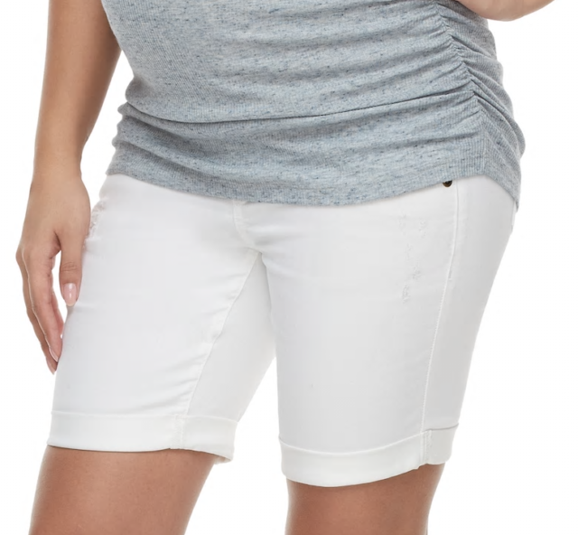 Maternity Shorts White Denim 2 Xs Bermuda New Bottoms X Small A Glow Full Panel For Sale Online