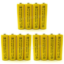 12x AA 3000mAH 1.2V NiMH Battery Rechargeable YLW