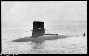 USS-Scorpion-SSN-589-postcard-US-Navy-nuclear-powered-submarine-Skipjack-class