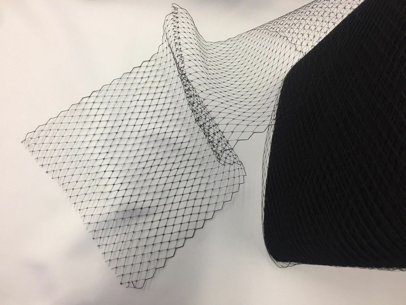 Black 9 Inch Birdcage Bridal Veil Netting French Net-hat Net-sold By The10 Yard.