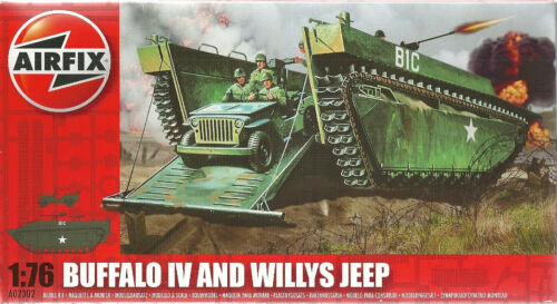 1945 Airfix 02302 LTV 4 Buffalo /& Willys Jeep 1:76
