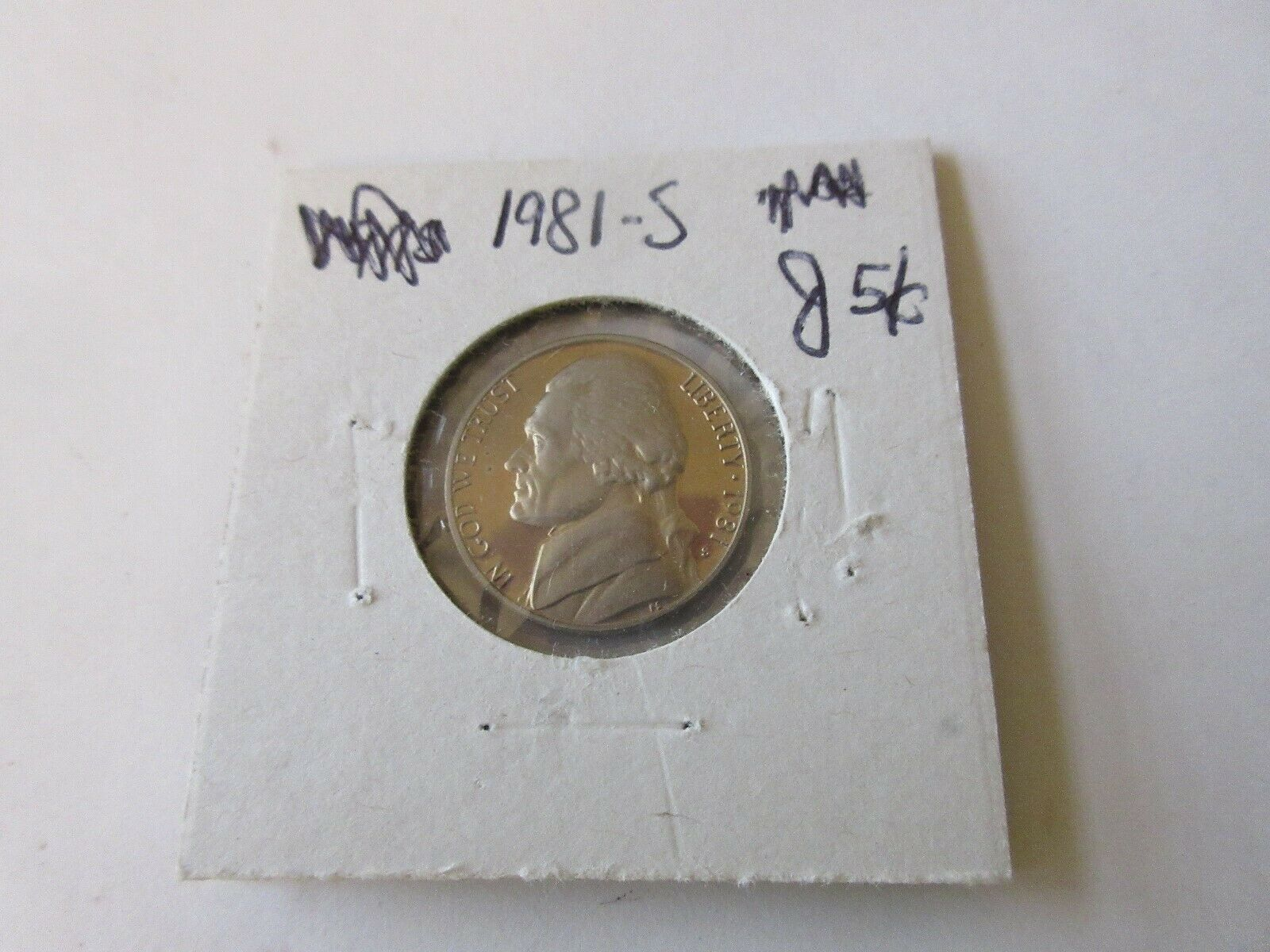 1981-S Proof Jefferson 5 Cents , Uncirculated