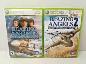 Blazing Angels 1 & 2 Secret Missions & Squadrons of WWII Xbox 360 Lot Bundle