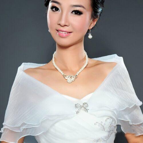 Wedding Bridal Organza Wrap Shawl Shrug Bolero Coat Party Cocktail Superb NE8