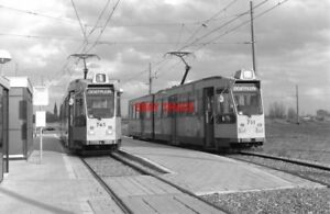 PHOTO-NETHERLANDS-TRAM-1986-RET-WOUDHOEK-TRAM-NO-745-AND-701-ON-ROUTE-1-ROTTERD