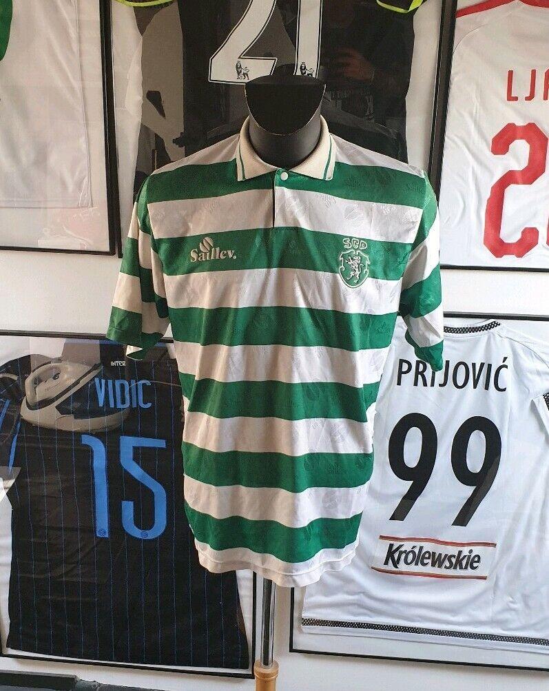 Maillot Camisetas Camiseta Sporting Portugal Worn Puerta 1995 1996 Saillev Rare