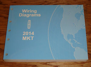 original 2014 lincoln mkt wiring diagrams manual 14 ebay rh ebay com