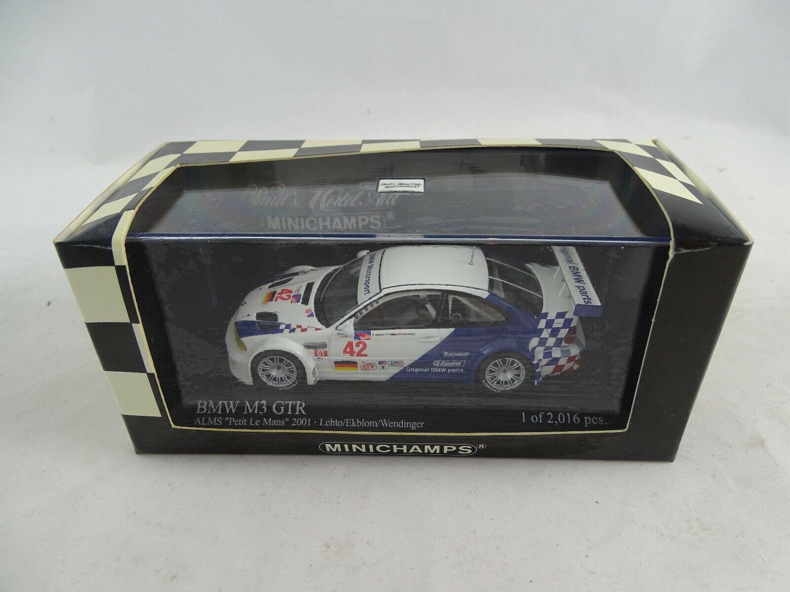 qualità di prima classe 1 43 Minichamps  400012142 BMW m3 m3 m3 GTR ALMS Petit Le uomos 2001  42 Lmtd. Nuovo Scatola Originale  promozioni