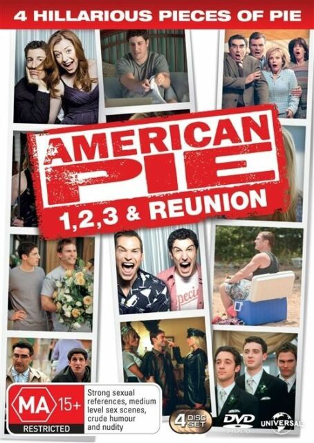 American Pie Quadrilogy - American Pie 1,2,3 and Reunion DVD 4 Disc Set