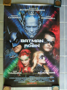 Image Is Loading Batman And Robin Movie Poster Uma Thurman Arnold