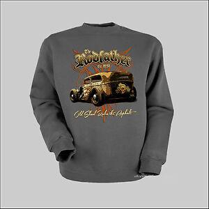 Rockabilly Sweatshirt Hot Rod Automotiv Kustom Garage artwork motors *1074