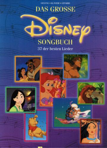 mittel Das grosse DISNEY Songbuch 37 Lieder Songbook Gesang Noten Klavier