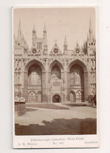 Vintage-CDV-Peterborough-Cathedral-West-Front-England-G-W-Wilson-Ph-Aberdeen