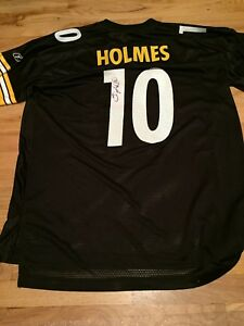 Details about santonio holmes jersey signed