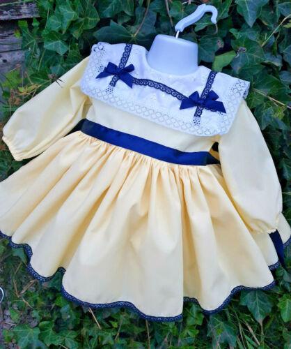 Dream 0-7 Ans Bébé Filles Citron Blanc blanc marine à col jupe robe