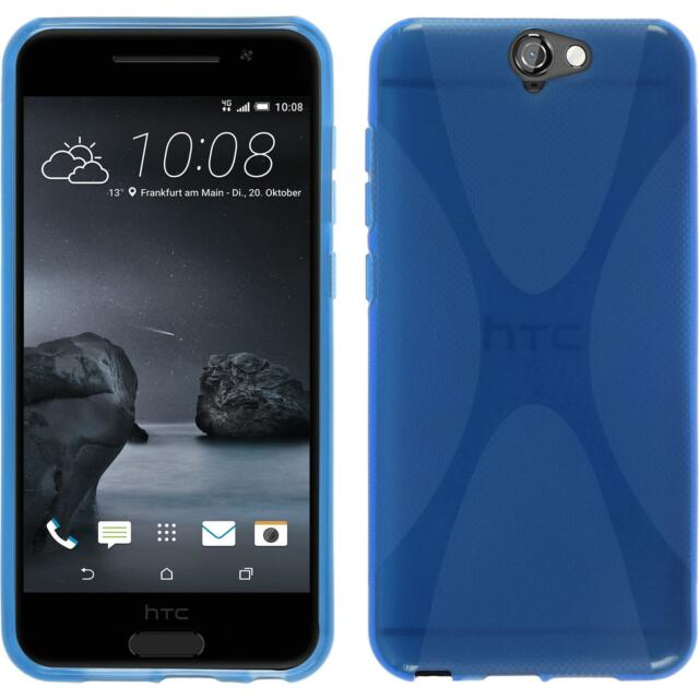 Silicone Case for HTC One A9 X-Style blue + protective foils