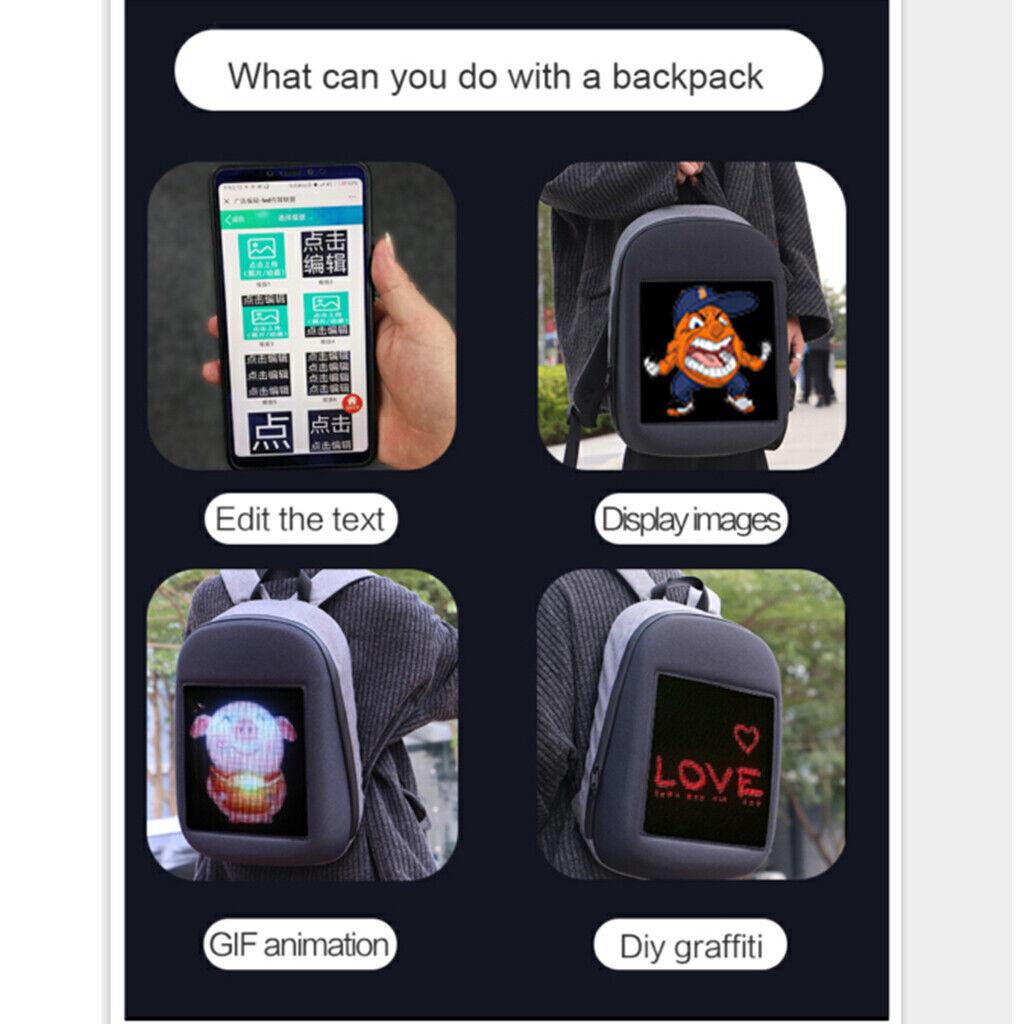Smart LED Dynamic Rucksack Laptop-Rucksack Für Outdoor Reisen Wasserdicht