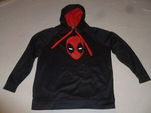 upcycled extra large marvel X Force fathers day gift burnout Mens XL Deadpool hoodie
