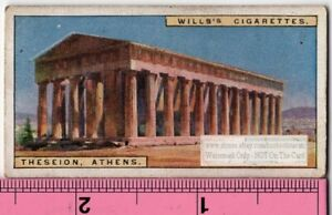 Temple-of-Hephaestus-Greek-Greece-Thesseion-Athens-90-Y-O-Ad-Trade-Card