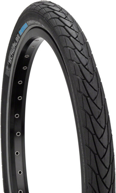 Schwalbe Marathon Plus Tire 20x1.75 Wire Bead Black with Reflective Sidewall