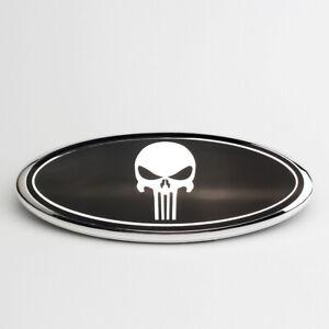 23cm-Ford-Schwarz-Punisher-Emblem-Logo-Vorne-Grill-Haube-Motorhaube-F-150-F-250