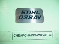 Stihl 038 Av Chainsaw Name Tag ---------------------------- Box1150