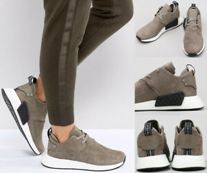 b9bea5c63 Mens ADIDAS Originals NMD C2 Taupe Brown Casual Sneakers BY9913 NEW ...