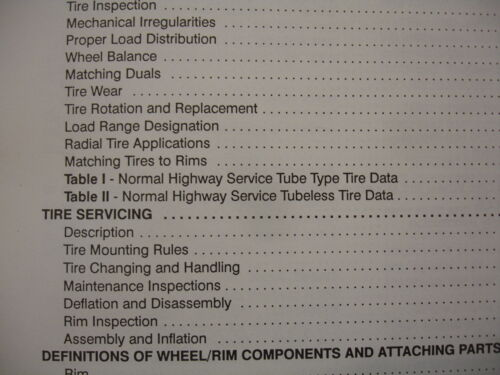 Mack Trucks  Wheels Rims /& Tires Factory Shop Service Repair Manual   15-101