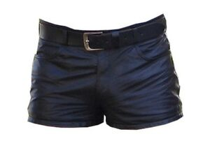 Mens-Leather-Shorts-Five-Pockets-Model-New-All-Sizes