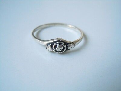 Dezenter 925 Sterling Silber Ring Blume Verzierung Motiv Rg 56 1,2 G Shrink-Proof Fine Rings