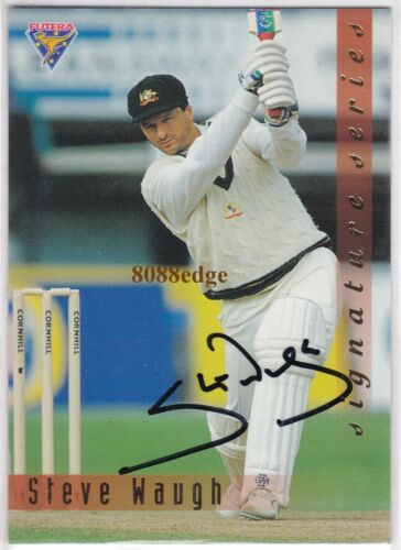1994 FUTERA CRICKET SIGNATURE REDEMPTION STEVE WAUGH #3011000 TEST CAPTAIN