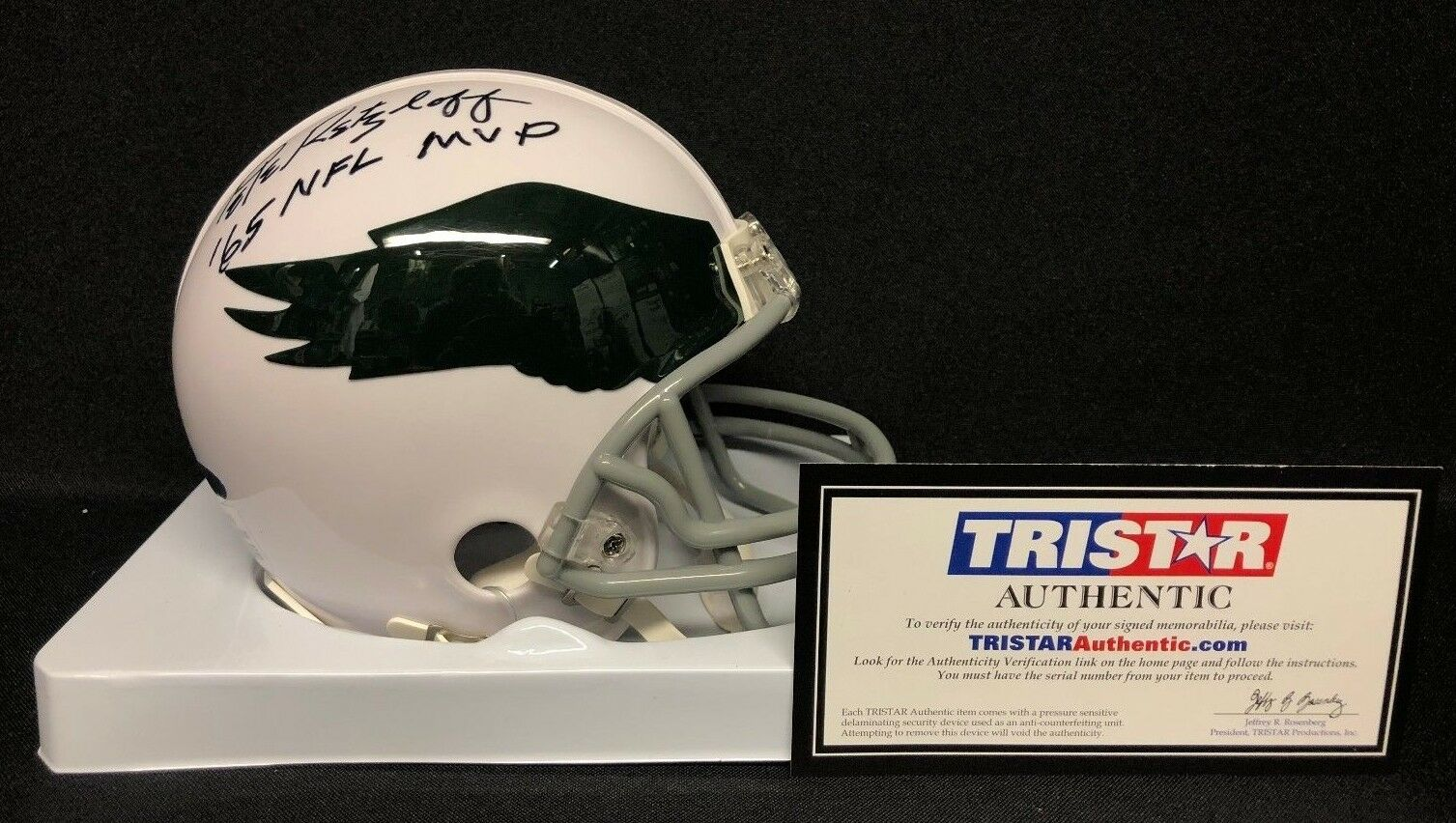 Pete Retzlaff Signed Philadelphia Eagles Mini-Helmet