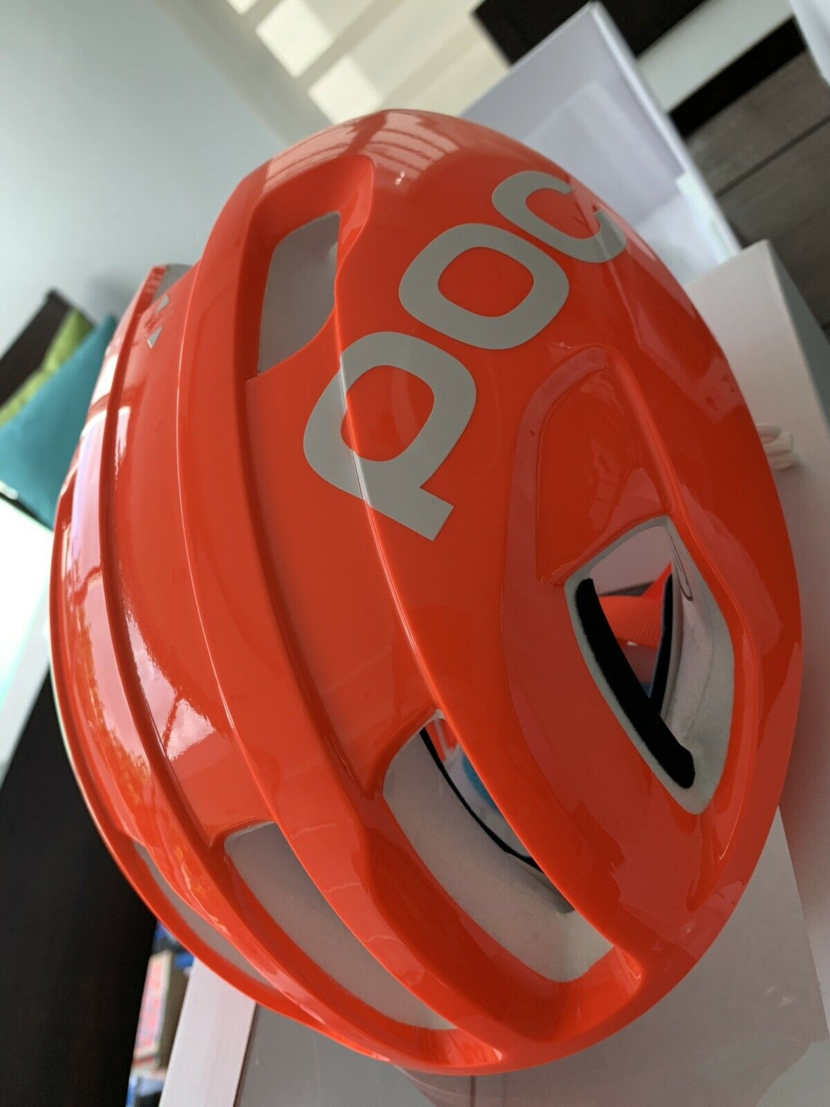 POC ventrale Spin avip Cyclisme Casque Zink Orange Taille M 54-59