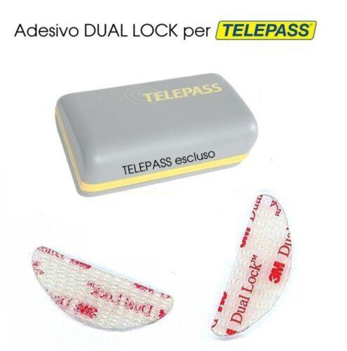 ADESIVO TELEPASS 3 M DUAL LOCk FISSAGGIO 3 pz singoli spedizione posta1