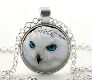 Snowy owl pendant necklace bird lover silver jewelry gift ideas image is loading snowy owl pendant necklace bird lover silver jewelry aloadofball Image collections