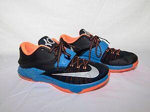 3ca822fa799e Nike KD VII 7 Black Photo Blue-Hyper Crimson-Metallic Silver Size 12 ...