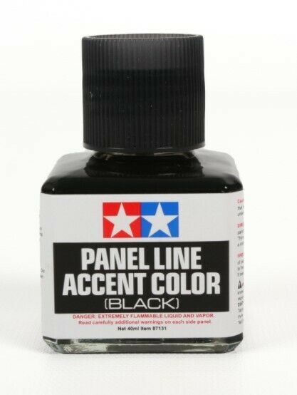 Tamiya 87131 PANEL LINE ACCENT COLOR Black 40 ml
