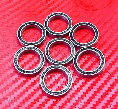 Set of 10 BALL BEARING WJB 6705-2RS WITH 2 RUBBER SEALS 25 X 32 X 4 MM