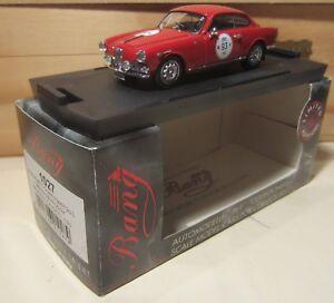 0800. BANG models N.1027 Alfa Romeo Giulietta Sprint 2aS Winter Marathon 1997 MB