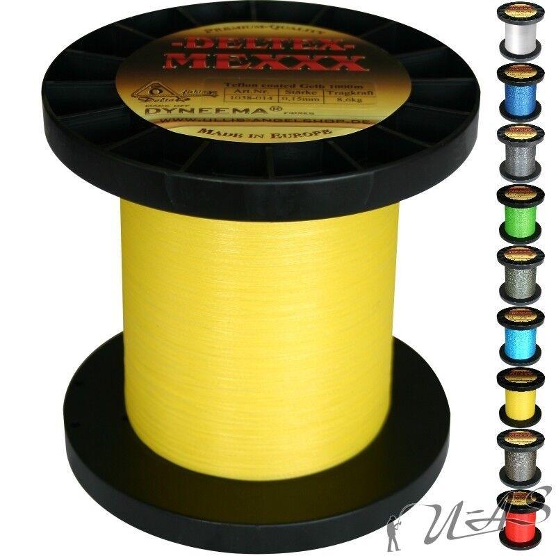Deltex Mexxx Hi-Tec Rund Geflochtene Angel Schnur Teflon 0,15 500M Gelb Sha  | Um Sowohl Die Qualität Der Zähigkeit Und Härte