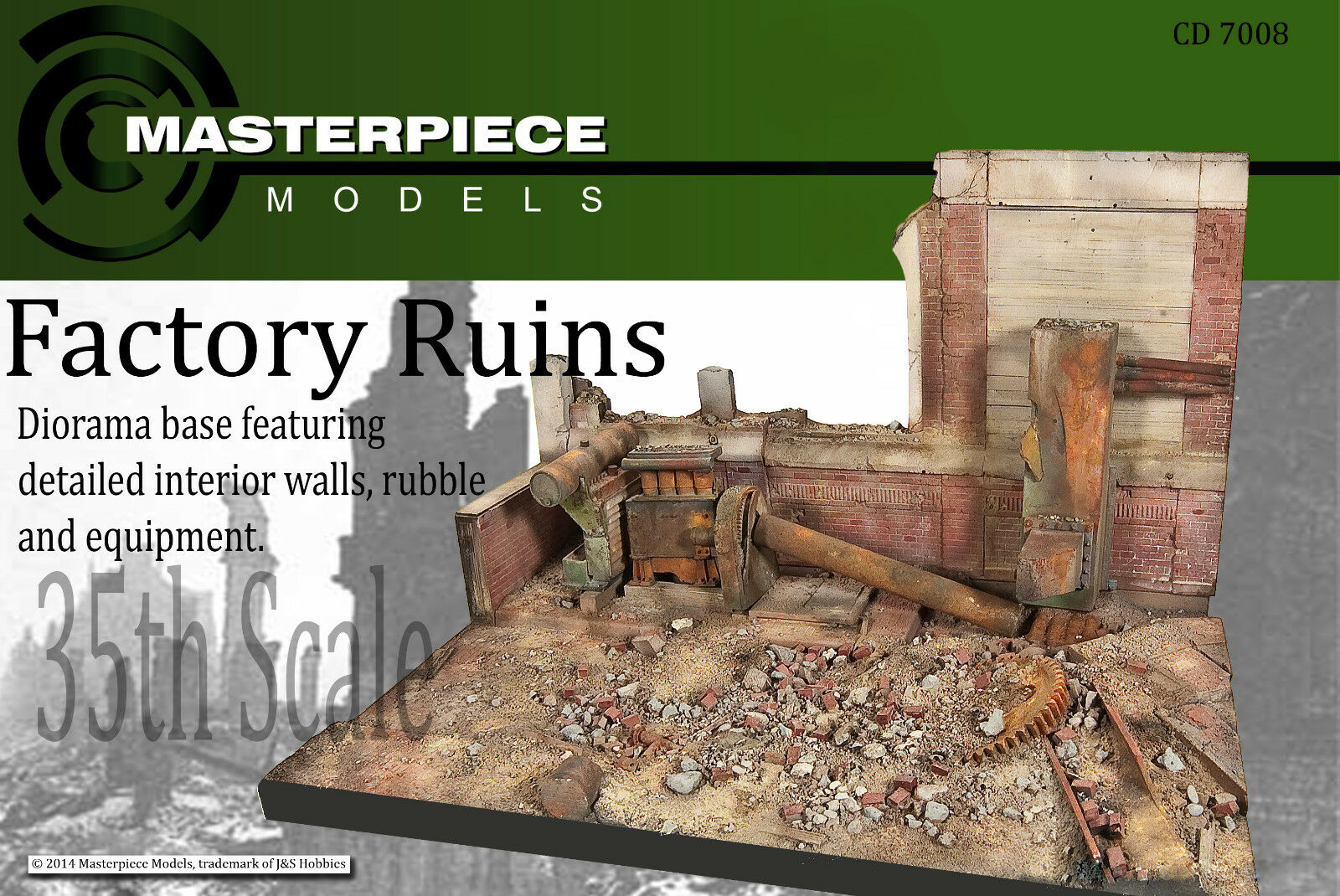 1 35th scale CD7008 Stalingrad factory ruins