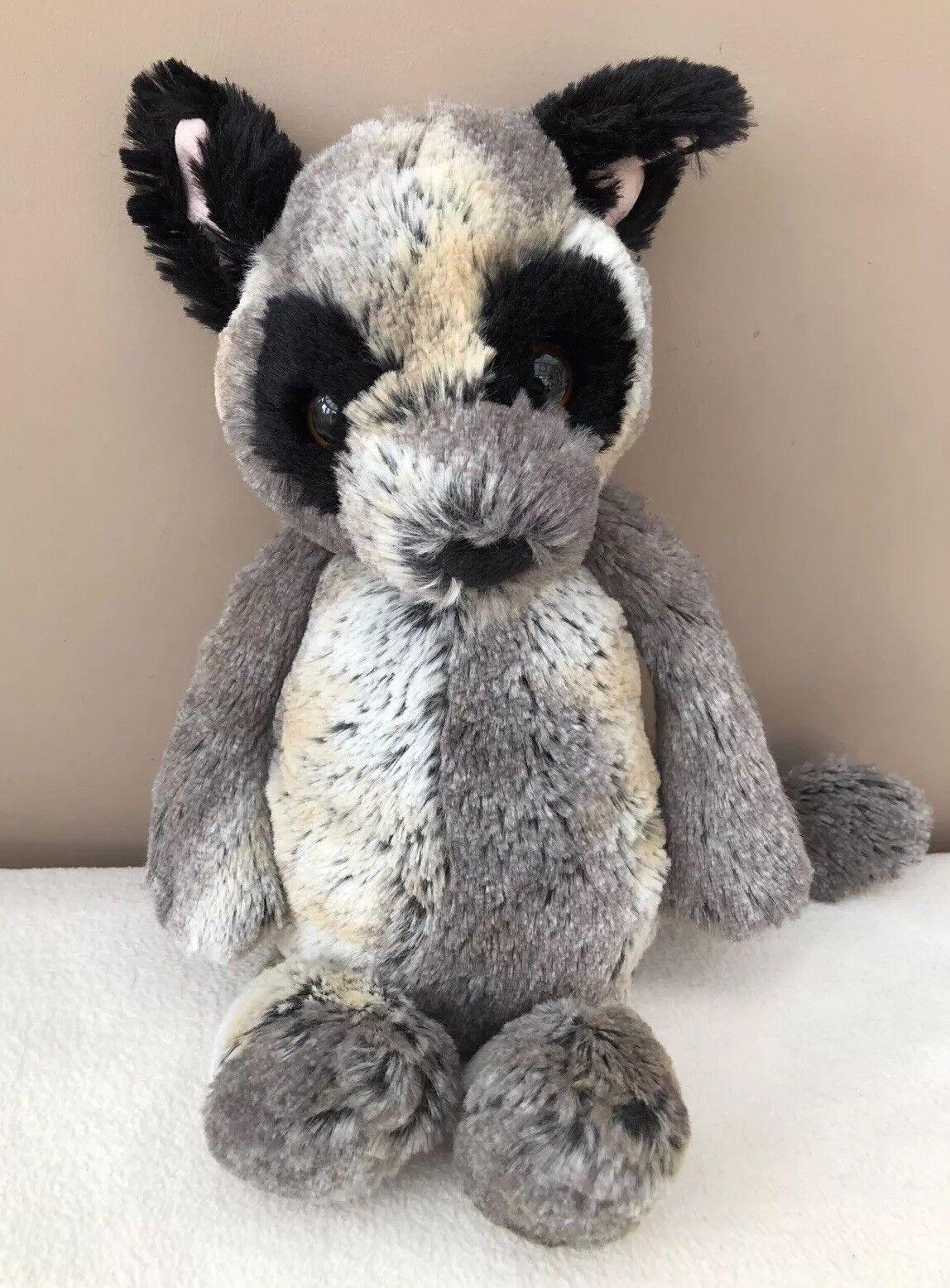 Jellycat Medium Bashful Bush Baby Lemur Comforter Soft Toy Retired Rare Grey