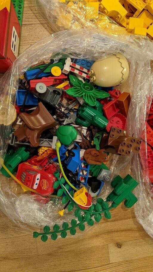 Lego Duplo, blandet 11 kg klodser, biler