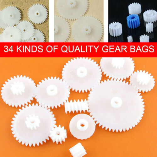9F1F Plastic Plastic Gear Cog Wheel Create Children Gearbox Shaft School Toys