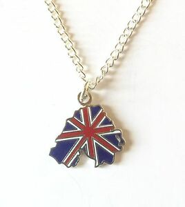 Northern-Ireland-Outline-on-Union-Jack-Pendant-Chain-and-Organza-Pouch-K073P