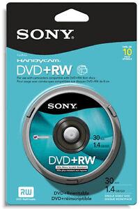 10-Pak-SONY-3-Inch-8cm-Mini-DVD-RW-1-4GB-30-Min-for-Sony-Camcorders