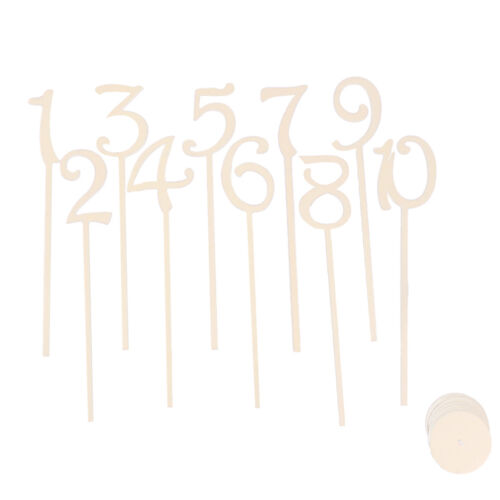 1-20 wooden shape table numbers stick set with base wedding party decoration