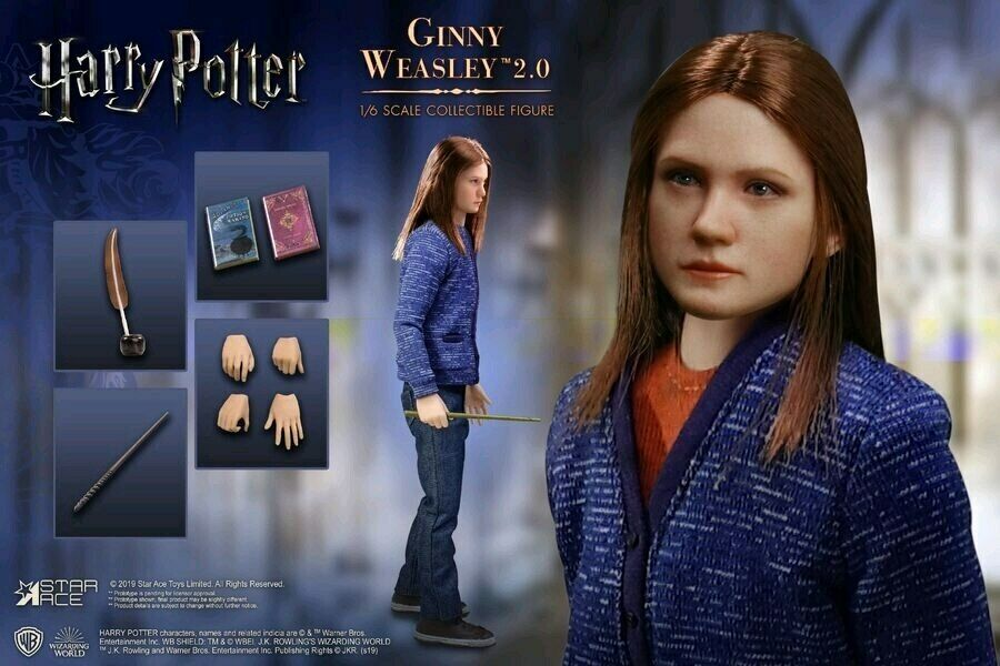 Harry Potter - Ginny (Casual Clothes) 12  1 6 Scale Action Figure-SATSA0063S-...