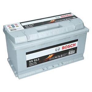pkw autobatterie 12 volt 100 ah bosch s5 013 starterbatterie ersetzt 90ah 105ah ebay. Black Bedroom Furniture Sets. Home Design Ideas